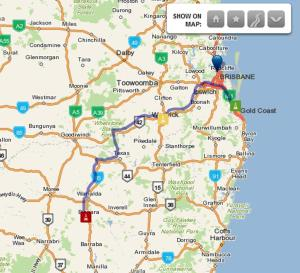 Gold Coast to Bingara