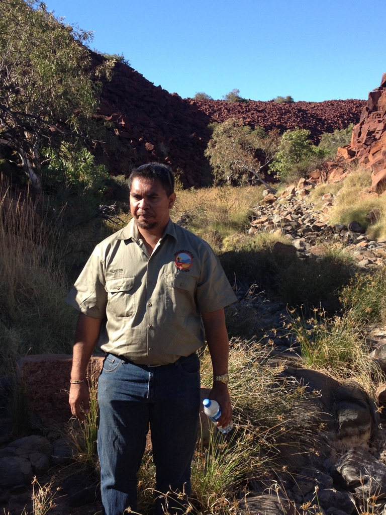 Clint our aboriginal guide on the Burrup