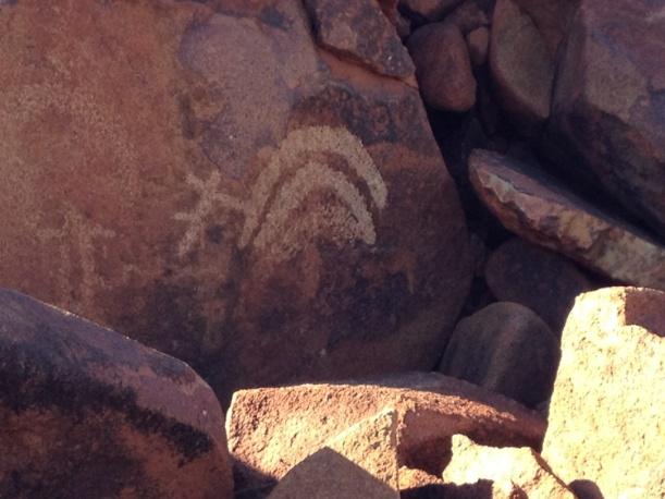 Three different types of boomerangs in rock art