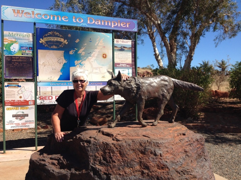 Red Dog Statue in Dampier