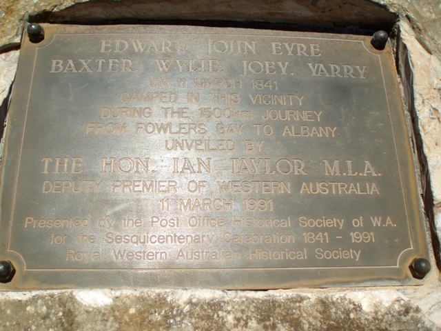 Eyre Memorial Inscription