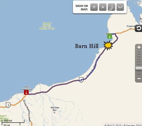Broome to Barn Hill