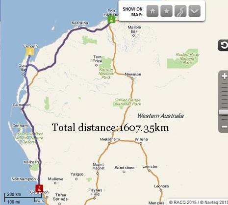 Port Hedland to Geraldton