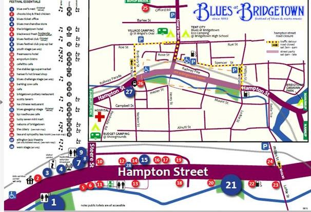 Blues map