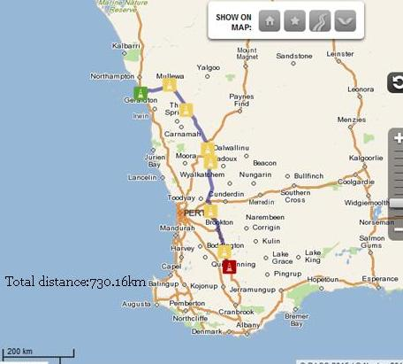 Geraldton to Wagin