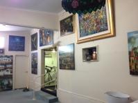 Inside Pro Hart's gallery