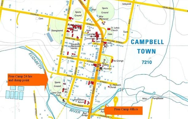 Free Camps, Campbell Town, Tasmania