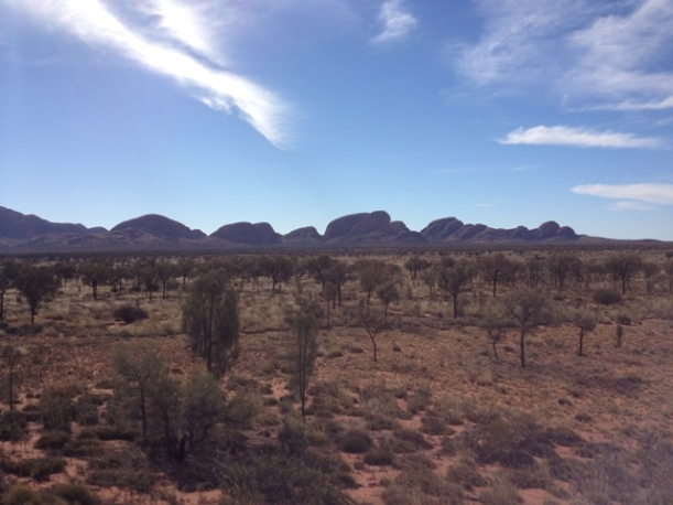 Kata Tjuta, formerly known as The Olgas, is a short distance from Uluru.