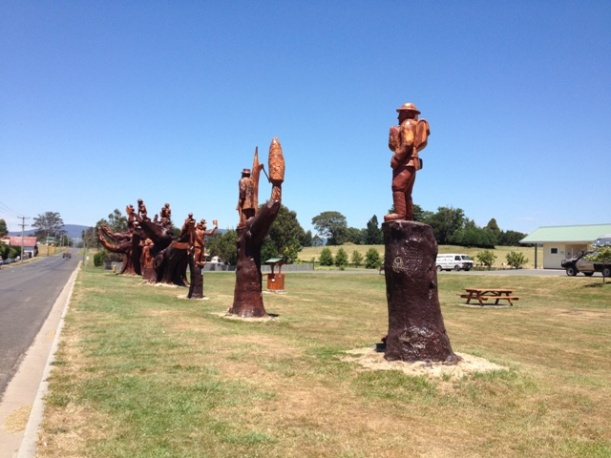 Memorial Tree Sculptures, Legerwood, Tasmania
