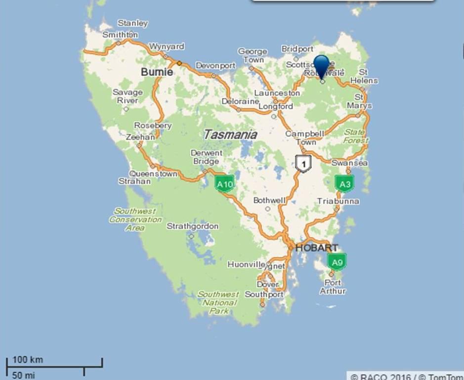Legerwood, Tasmania