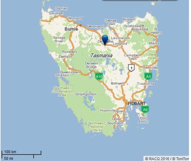deloraine-map