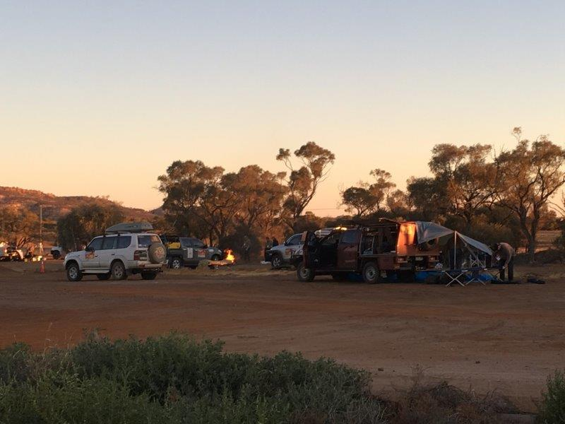 Camping at Yaraka Queensland