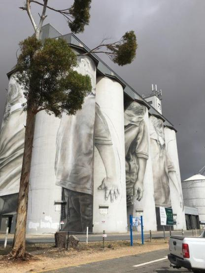 Coonalpyn Painted Silos, South Australia