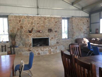 Fireplace at Broken Creek Bush Camp