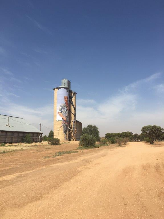 Silo Art at Patchewollock, Victoria