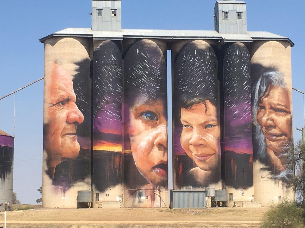 Silo Art at Sheep Hills, Victoria