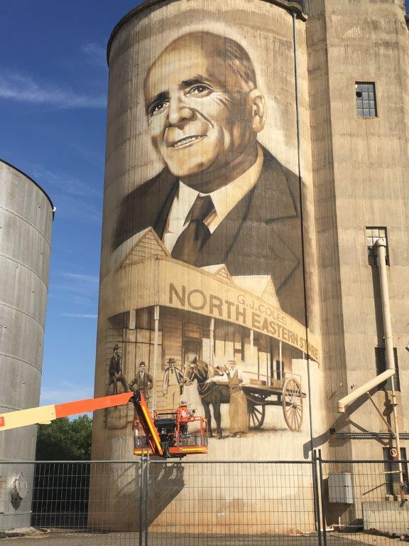 St James Silo Art