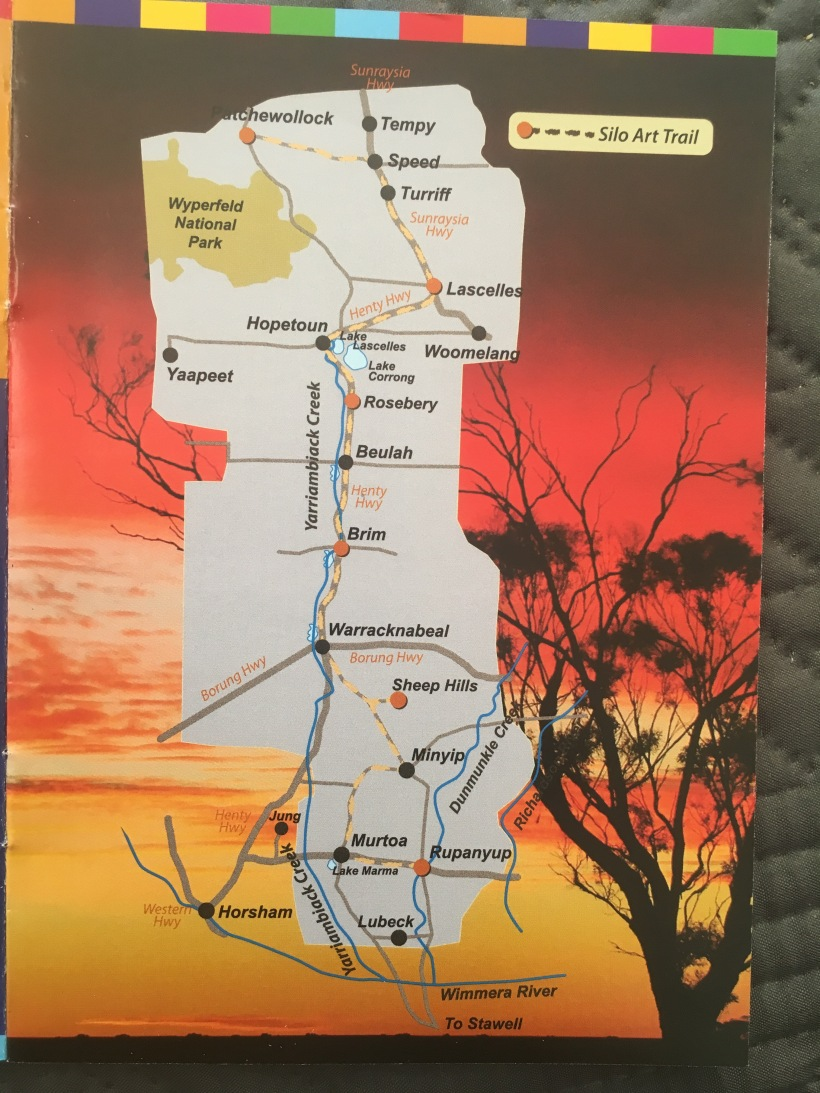 Map of Western Victoria Silo Art Trail
